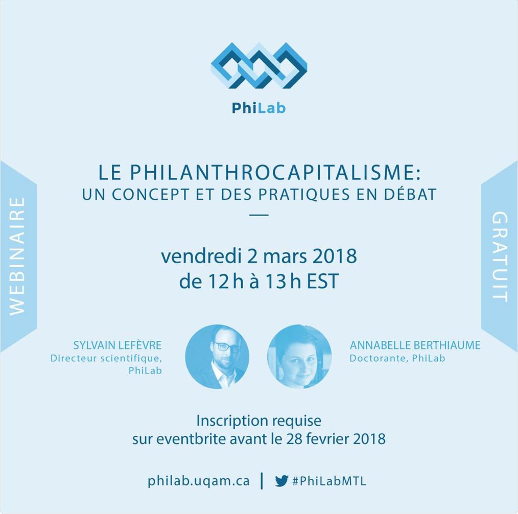 Le Philanthrocapitalisme: un concept et des pratiques en débat