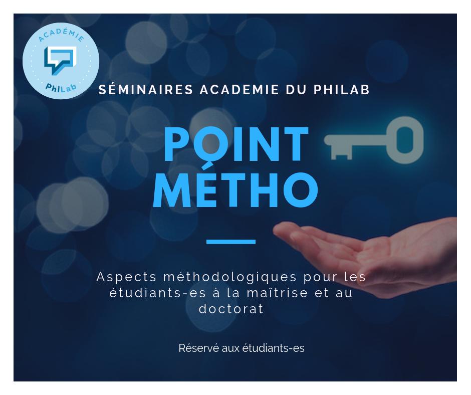 methodological workshop Quebec Hub point métho