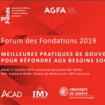 Forum des fondations 2019