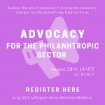 Advocacy philanthropic sector Webinar