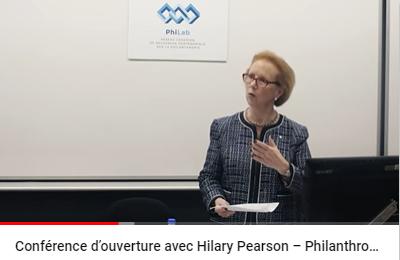 Conférence d'ouverture avec Hilary Pearson – Philanthropie : Expérience et perspectives d'avenir