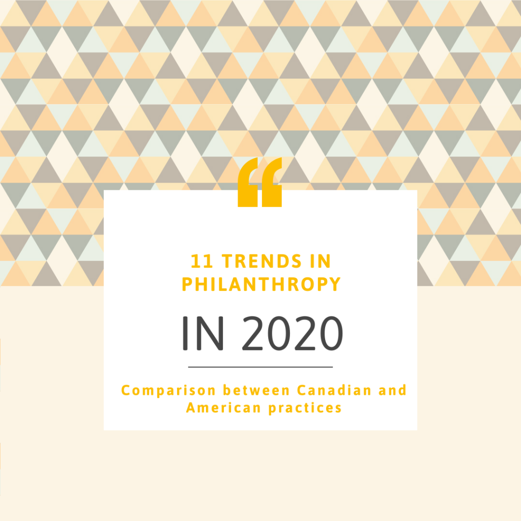 Eleven trends in philanthropy for 2020 in Canada