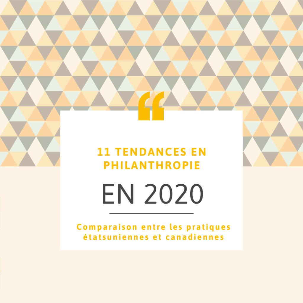 Onze tendances philanthropie en 2020 Canada
