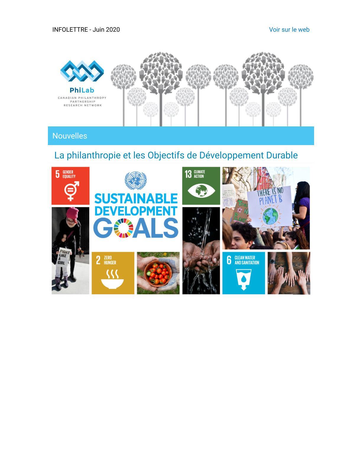La philanthropie et les Objectifs de Développement Durable