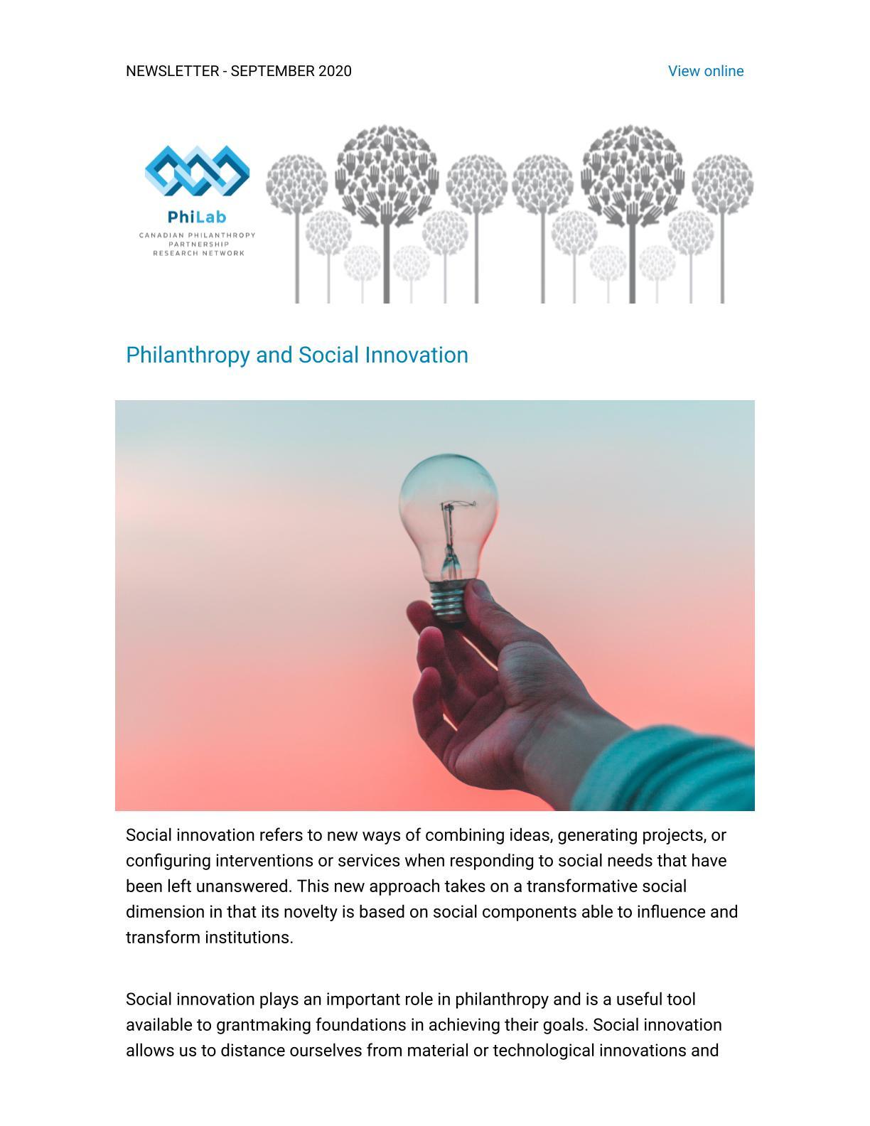 Philanthropy & Social Innovation
