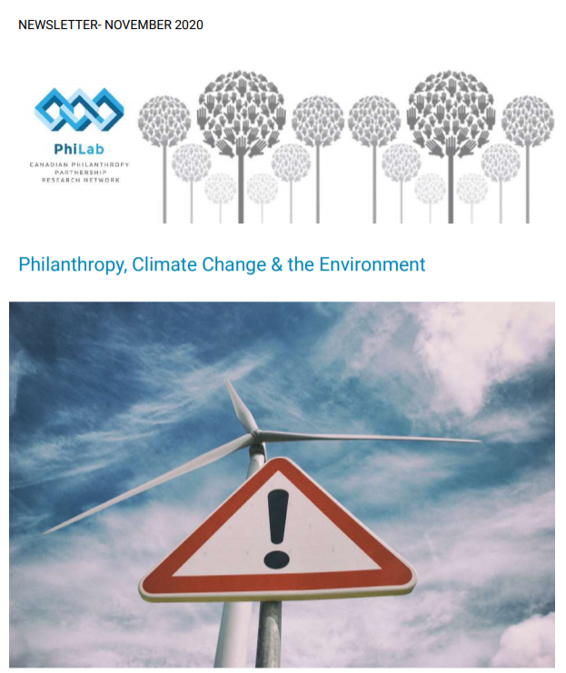 Philanthropy, climate change & the environment