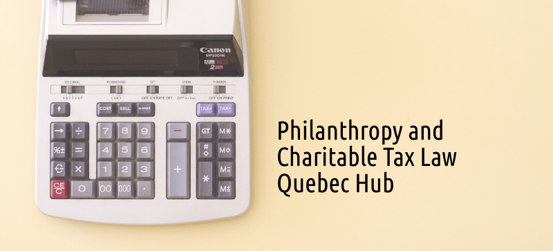Philanthropy and Charitable Tax Law