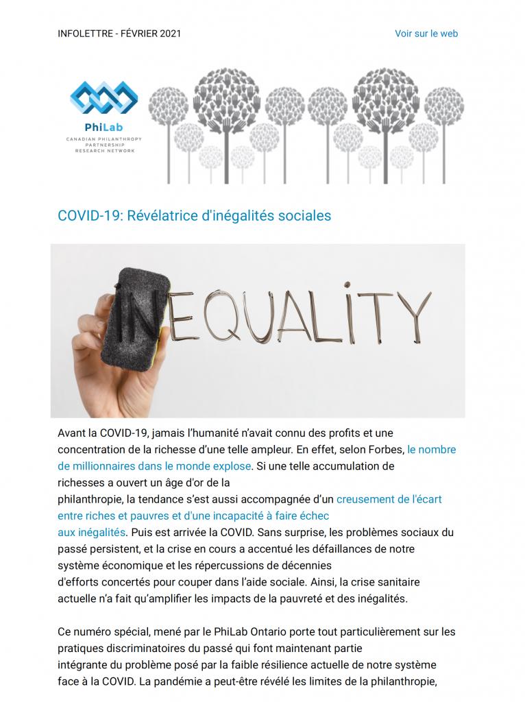 COVID-19: Révélatrice d'inégalités sociales