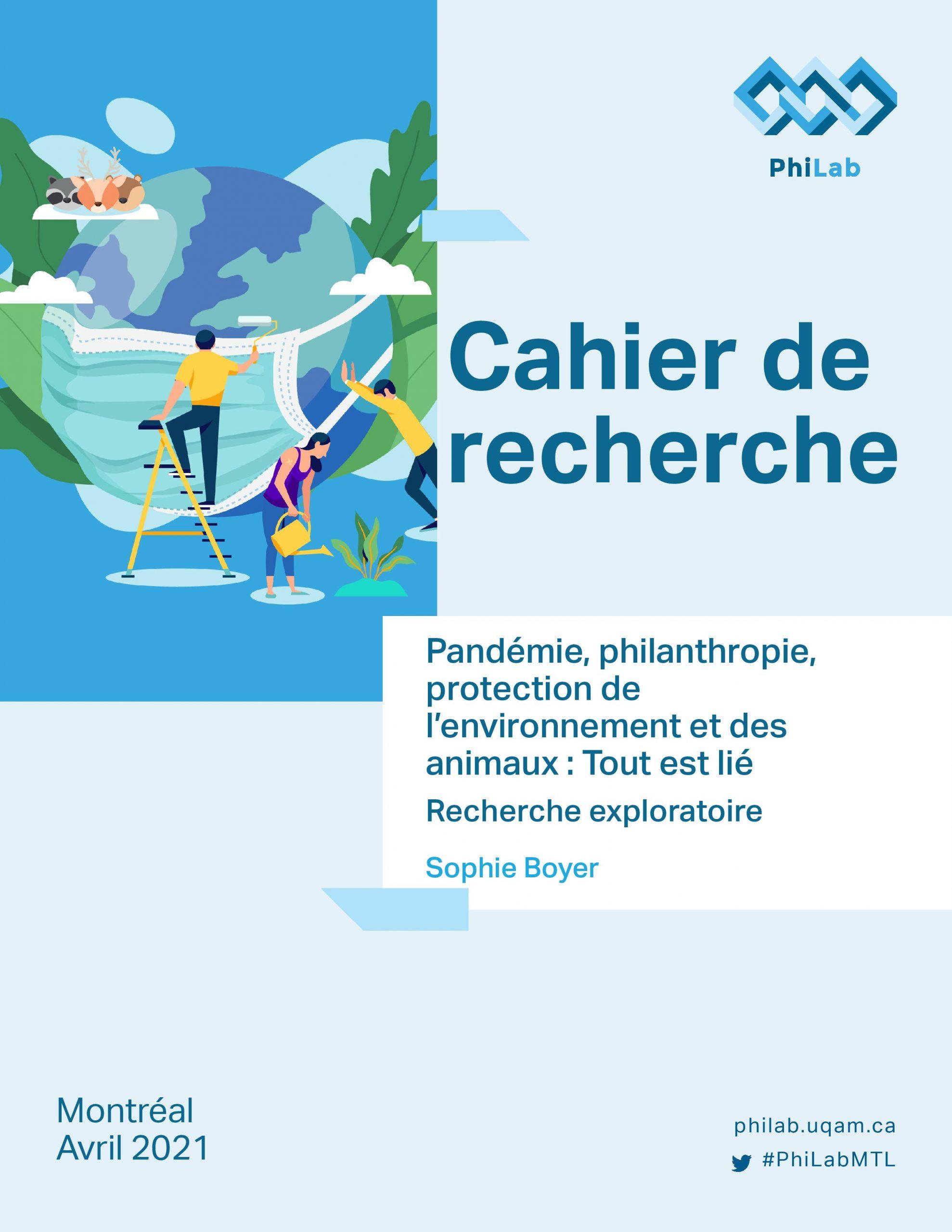 Pandémie, philanthropie, protection de l'environnement et des animaux : Tout est lié | Cahier de Recherche par Sophie Boyer