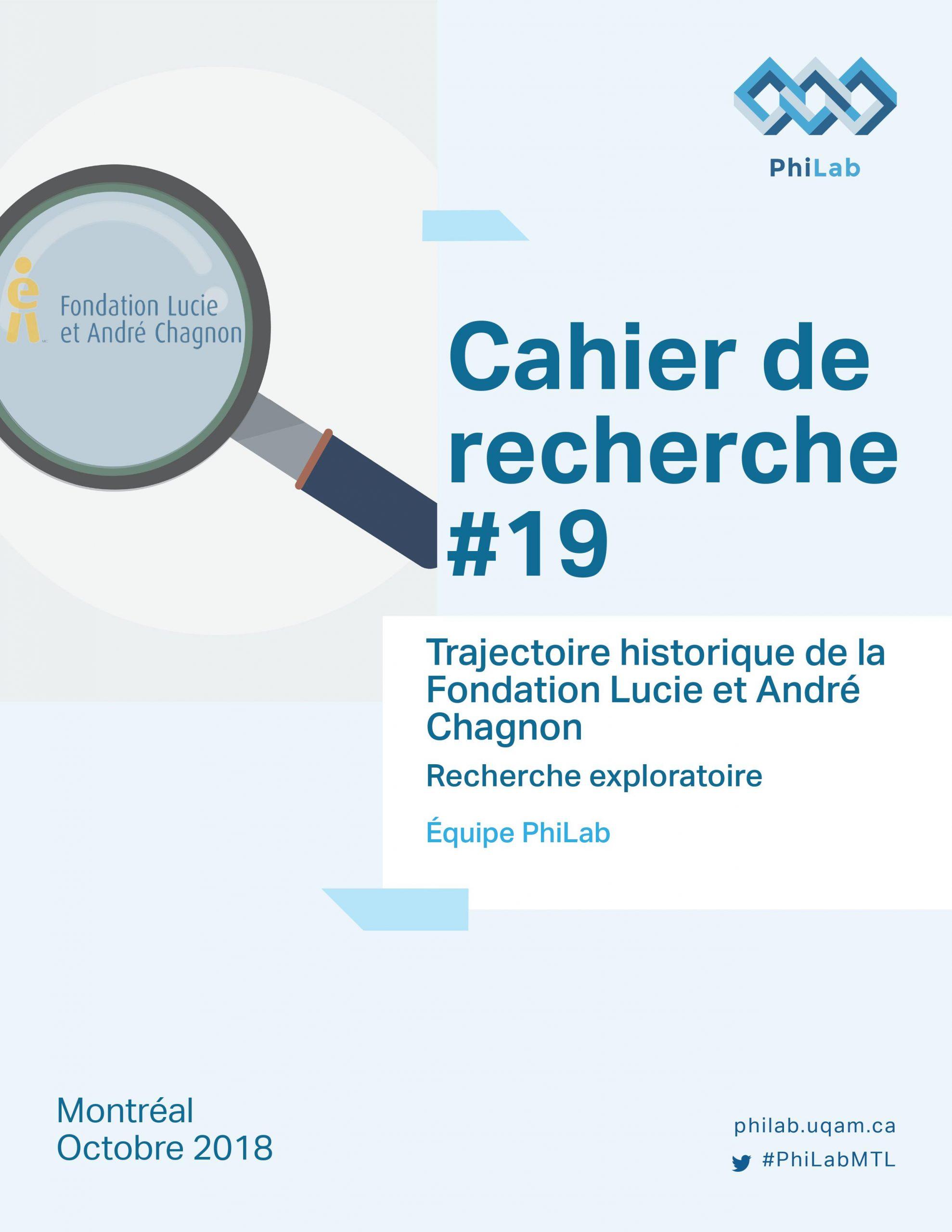 Trajectoire historique de la Fondation Lucie et André Chagnon