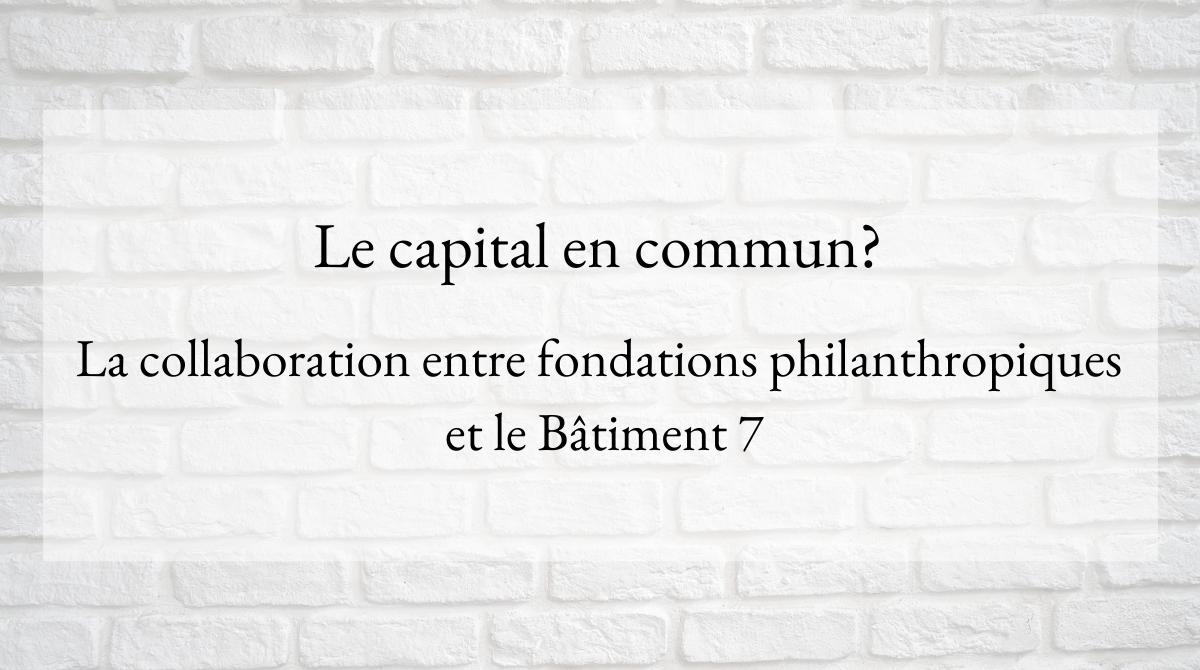 Le capital en commun